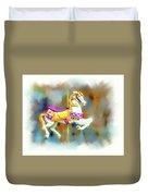 Newport Beach Carousel Horse Duvet Cover