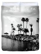 Newport Beach Jetty Duvet Cover by Paul Velgos