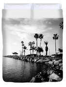 Newport Beach Jetty Duvet Cover by Paul Velgos
