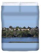 Newport Estuary Looking Across At Homes I Duvet Cover