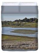 Newport Estuary Looking Across At Visitors Center  Duvet Cover