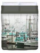 Newport, Oregon Fishing Fleet Duvet Cover