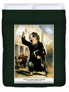 Newsboy Shouting, 1847 Duvet Cover