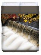 Newton Upper Falls Autumn Waterfall Duvet Cover