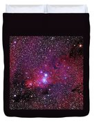 Ngc 2264 The Christmas Tree Cluster In Monoceros Duvet Cover