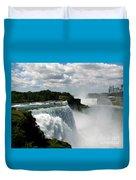 Niagara Falls American And Canadian Horseshoe Falls Duvet Cover