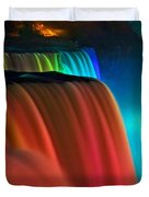 Niagara Falls At Night Duvet Cover