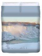 Niagara Falls In Wintertime Duvet Cover