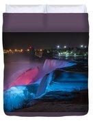 Niagara Falls Light Show Duvet Cover