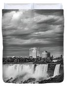 Niagara Falls - The American Side 3 Bw Duvet Cover