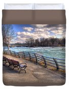 Niagara Rapids In Early Spring Duvet Cover