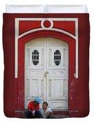 Nicaragua Door 1 Duvet Cover