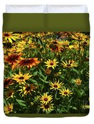 Nice Close Up Of Black Eyed Susans In Nature Duvet Cover