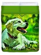 Nice Dog Duvet Cover