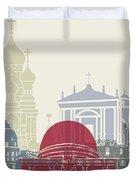 Nice Skyline Poster Duvet Cover