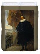 Nicolaes Van Der Borght, Merchant Of Antwerp Duvet Cover
