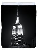 Night At The Empire State Building Duvet Cover