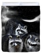 Night Bandits Duvet Cover