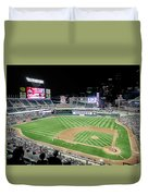 Night Baseball In Minneapolis Duvet Cover