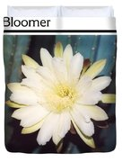 Night Bloomer Posters Duvet Cover