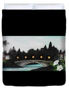 Night Bridge Duvet Cover