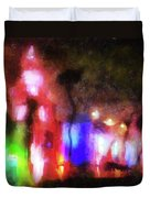 Night City Lights Duvet Cover
