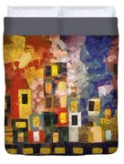 Night City Duvet Cover by Michelle Calkins