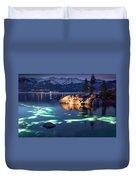 Night Dive - Lake Tahoe Duvet Cover