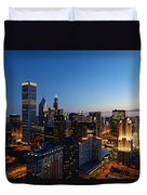Night Falls On Chicago - D001087 Duvet Cover