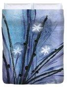 Night Flowers Duvet Cover