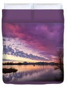 Night Gives Way To Dawn Duvet Cover