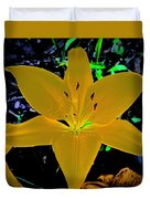 Night Glow Lily Duvet Cover