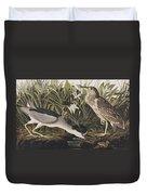 Night Heron Or Qua Bird Duvet Cover