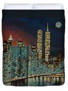 Night In Manhattan Duvet Cover