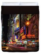 Night In The Big Apple Duvet Cover