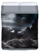 Night Landscape. Australian Mountain View Duvet Cover