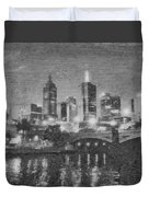 Night Landscape In Melbourne Duvet Cover