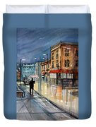 Night Lights Duvet Cover by Ryan Radke