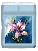 Night Lily Duvet Cover