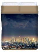 Night Los Angeles Skyline Duvet Cover