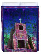 Night Magic San Miguel Mission Duvet Cover