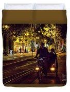 Night Moods Streets Of San Jose   Duvet Cover