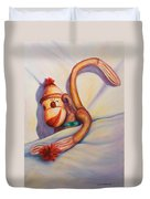 Night Night Sock Monkey Duvet Cover