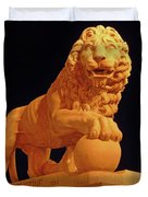 Night Of The Lion Duvet Cover