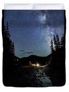 Night On The Blue River Duvet Cover