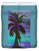Night Palm Duvet Cover