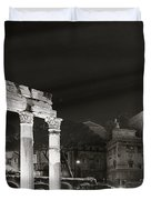Night Panorama In Rome Duvet Cover