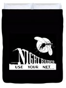 Night Raider Ww2 Malaria Poster Duvet Cover