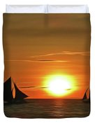 Night Sail Duvet Cover by Harry Warrick