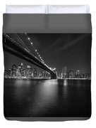 Night Scape Bw Duvet Cover